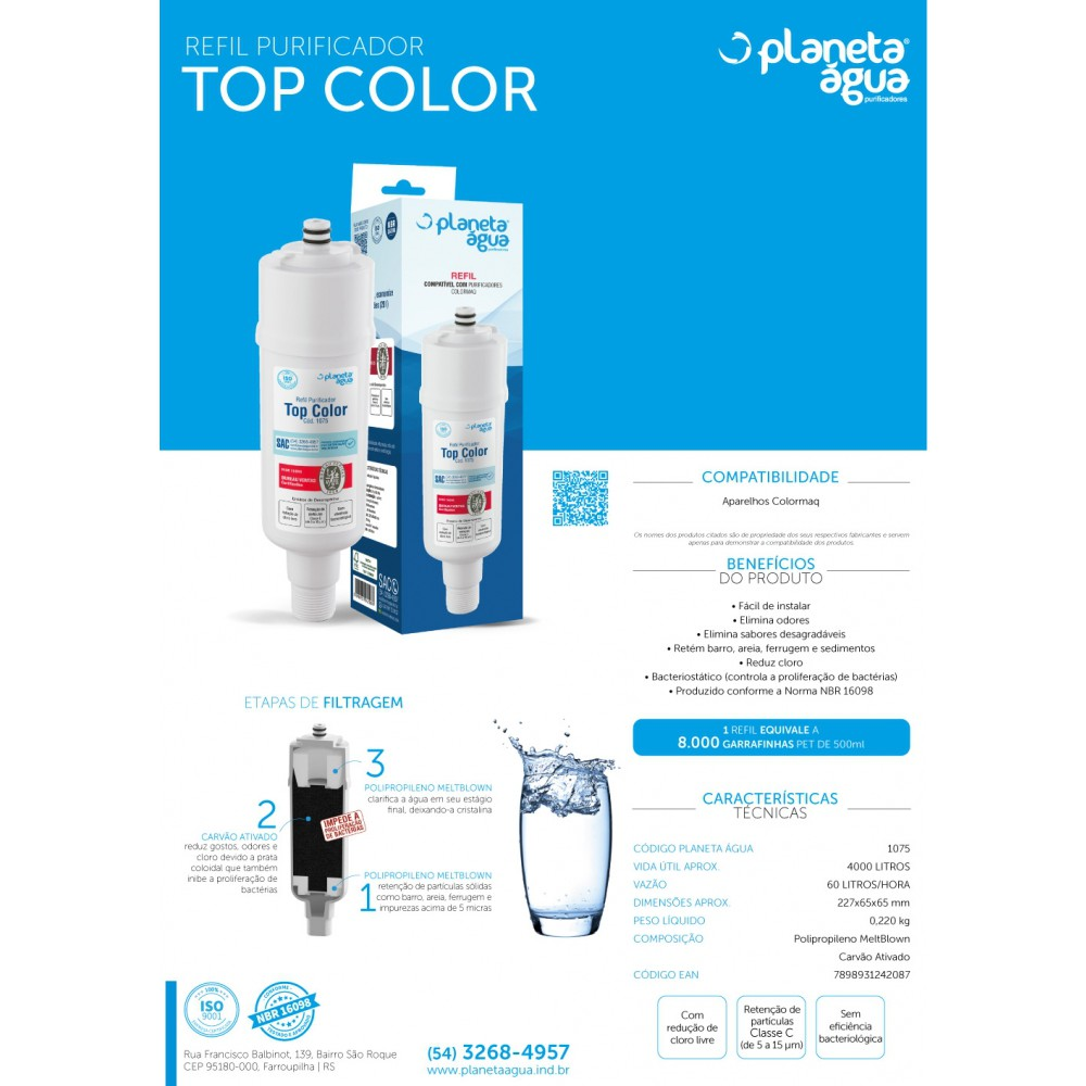 Refil Filtro Colormaq para Purificador de Água funções