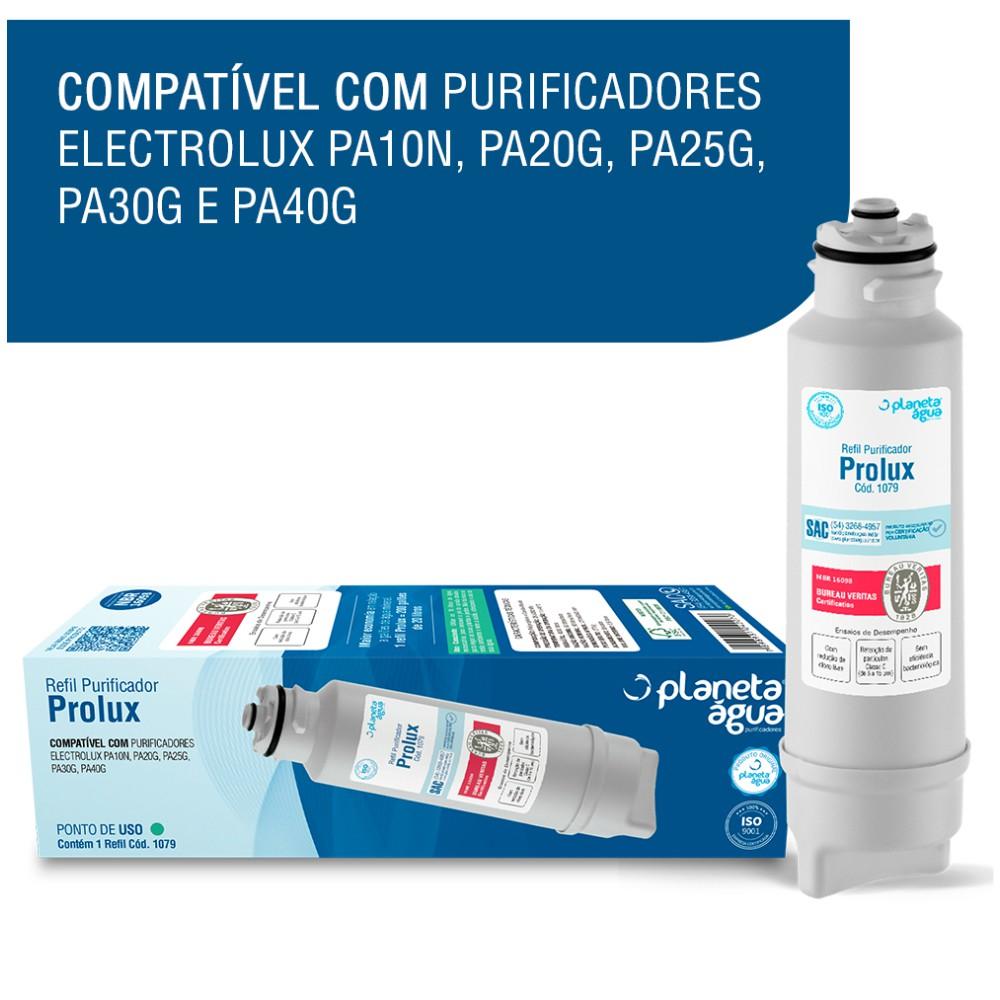 Refil Filtro Prolux para Purificador de Água Electrolux compatibilidade