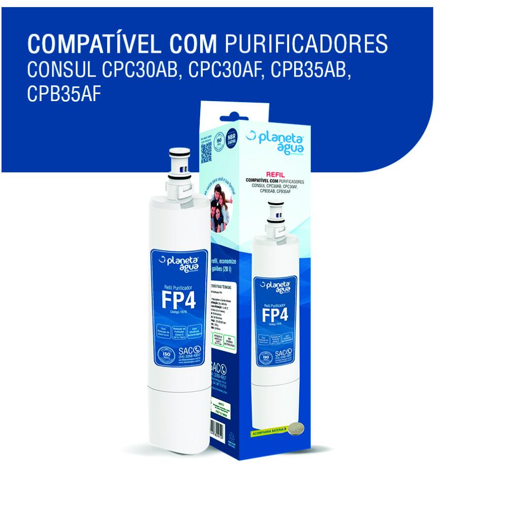 Refil Filtro FP4 para Purificador de Água Consul compatibilidade