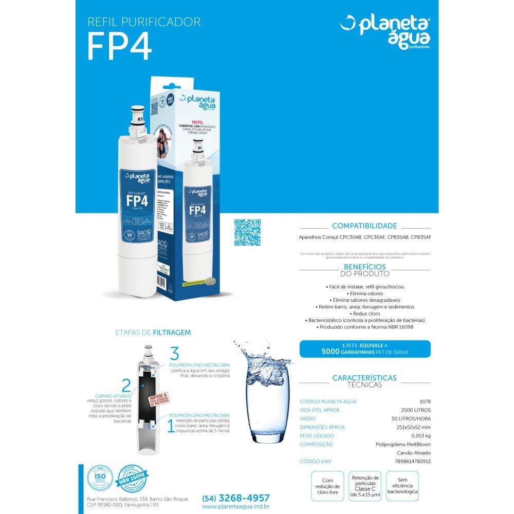 Refil Filtro FP4 para Purificador de Água Consul apresentaçao