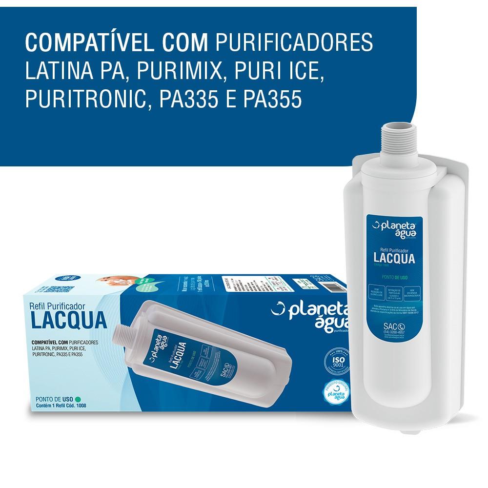 Refil Filtro Lacqua para Purificador de Água Latina compatibilidade