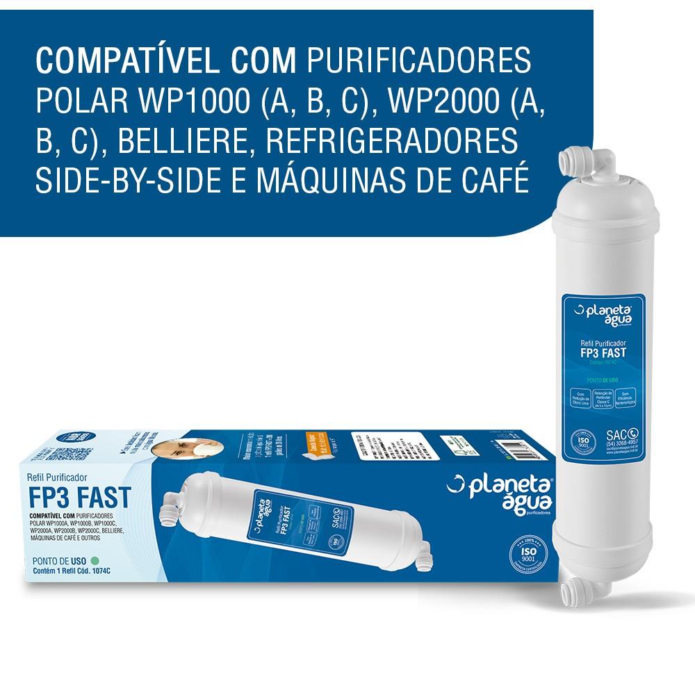 Refil Filtro FP3 Fast para Purificador de Água Polar compatibilidade