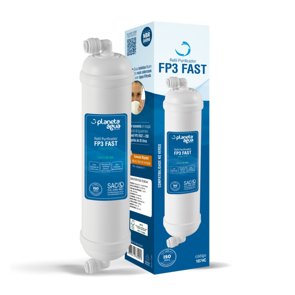 Refil Filtro FP3 Fast para Purificador de Água Polar